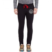 Cliths Men's Black and Grey Round Zeep Printed Track Jogger