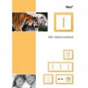 Priza R-TV capat incastrata alb portocaliu fresh NEO ABB