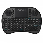 Mini tastiera wireless ergonomica con mouse touchpad Colore Nero Minix
