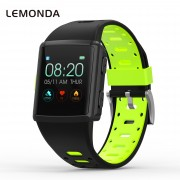 LEMONDA M3 GPS Sports Smart Watch 1.3 inch HD IPS Screen Six Watchfaces Real-time Activity Tracking - Black/Green