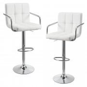 [en.casa]® Sada barových stoličiek HTBS-3704 - 2 ks - biele