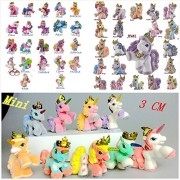 20Pcs/lot 3CM Simba Filly Little Horse Dolls Witchy Unicorn Stars Butterfly etc. Toy Mini Horses Doll Kid Christmas Gift