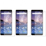 Deltakart Tempered Glass for Nokia 7 Plus - Pack of 3