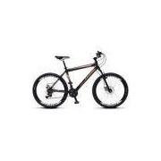 Bicicleta Colli Force One MTB Preto Kit Shimano 21 Marchas Aro 26 Aero Freios a Disco
