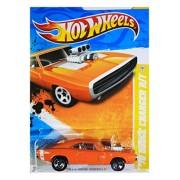 2011 Hot Wheels 70 Dodge Charger R/T Orange #42/244