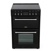 Belling Farmhouse 60E Black Ceramic Electric Cooker with Double Oven