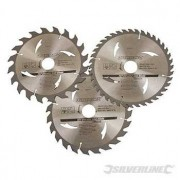 TCT cirkelzaagblad 20, 24, 40 tanden, 3 stuks. 190 x 30 - 25 en 20 mm ringen