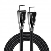 MCDODO 2M Nylon Braided Type-C to Type-C Fast Charging Cable for Samsung Huawei HTC - Black