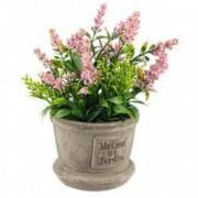 Flori artificiale roz in ghiveci Ø8x20h