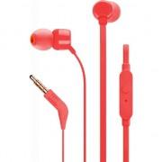 Casti in ear JBL T110, microfon, rosu
