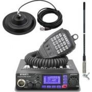 Pachet statie radio CB Avanti Primo PRO-version + Antena radio CB Sirio T3-27 si baza magnetica 145 DV