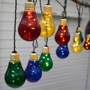 Glow LED string lights, 10 colourful light sources