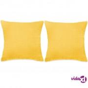 vidaXL Set Jastuka 2 kom od Velura 60x60 cm Žuti