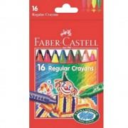 Creioane colorate cerate 16 culori/set FABER-CASTELL Clown