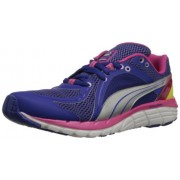 PUMA Women's Faas 600 S Running Shoe,Spectrum Blue/Beetroot Purple/Sunny Lime,8 B US