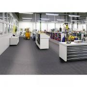 Certeo PVC-Bodenplatte, VE 8 Stk - mit genoppter Oberfläche - grau