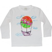 Tricou baieti pictat manual, 2 ani, Balloon