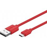 Goobay MicroUSB-kabel Goobay röd 1 meter
