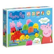 Set Soft Clemmy, tren cu cuburi moi, Peppa Pig