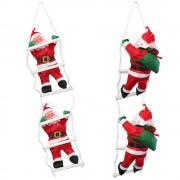 [lux.pro]® Дядо Коледа се катери по стълба - 65 см.