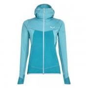 Salewa Puez Hybrid - giacca in pile con cappuccio - donna - Azure