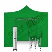 ray bot Gazebo pieghevole 3x3 verde professionale con laterali. PVC 350g