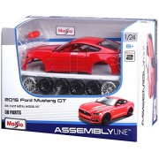 Maisto 1:24 Assembly Scale Line 2014 Ford Mustang Street Racer Diecast Model Kit (Colors May Vary)