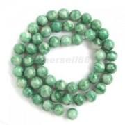 Alcoa Prime 8mm Round Green Jade Gemstone Loose Beads Strand Jewelry Beading Craft Making
