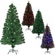 Цветна коледна елха със стъклени влакна и със стойка - 180 см.