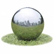 vidaXL Fântână sferică pentru grădină din oțel inoxidabil cu LED, 20 cm