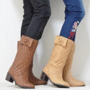 &LOVE カメリアリボンのキルティングミドルブーツ【QVC】40代・50代レディースファッション