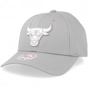 Mitchell & Ness Keps Chicago Bulls Team Logo Low Pro Silver Cloud Adjustable - Mitchell & Ness