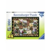 Puzzle Dinozaur, 100 Piese Ravensburger