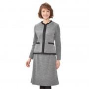 東京ソワール ウール混ブークレニットスーツ【QVC】40代・50代レディースファッション