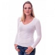 Claesens Women T-Shirt V-Neck l/s White ( 8011 ) - Wit - Size: Small
