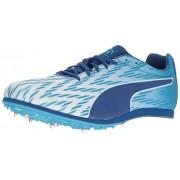 PUMA Men's Evospeed Star 5 Soccer Shoe, Puma White/Blue Danube/True Blue, 8 M US