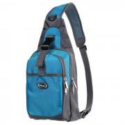 CTSmart Ciclismo de viaje al aire libre de excursion Sling Chest Pack Messenger Bag mochila - azul + gris