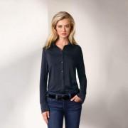 Lange Tencel®-blouse, 36 - marine