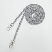 10 stuks metalen ketting schoudertassen handtas gesp handvat DIY dubbele geweven ijzeren ketting riem 120cm (chroom zwart)