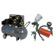 Compresor de aer Stager HM-V-0.6/200 200L 8 BAR + KIT 4 accesorii