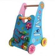 Vidatoy Multifunction Wooden Baby Walker Wonderful Push Toy for Kid