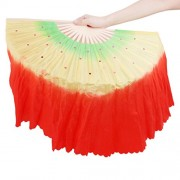ELECTROPRIME Hand Made Art Chinese Belly Dance Dancing Stage Folding Fan Veil with Sequin