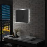 vidaXL LED стенно огледало за баня със сензор за допир, 80x60 см