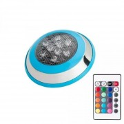 Foco Piscina Led Sumergible 12w 16 Colores Rgb Con Control - HB Led