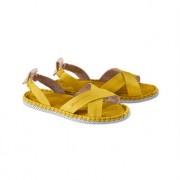Chaaya Cross-Strap-Sandale, 39 - Gelb