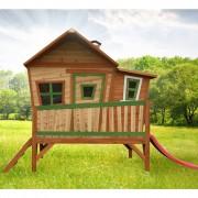 AXI Venkovní dětský hrací domeček dřevěný se skluzavkou Emma