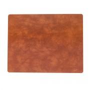 LindDNA - Tischset Square L 35 x 45 cm, Bull cognac
