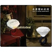 Romantic Couple Diamond Ring LED Desk Table USB Powered With Adapter Night Lamp