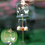 Generic Butterfly 3 Bells Wind Chime Garden Ornament Aeolian Bell Decoration