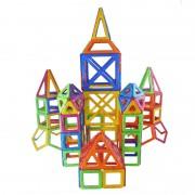 Joc de constructie magnetic Magplayer, 268 piese, 38 x 28 x 20.5 cm, 3 ani+